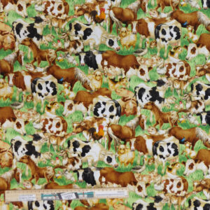 Quilting Patchwork Sewing Fabric Down on the Farm 50x55cm FQ
