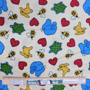 Quilting Patchwork Sewing Fabric Stuffed Animals 50x55cm FQ