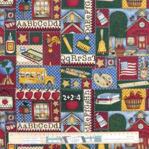 Quilting Patchwork Sewing Fabric Debbie Mumm School Days 50x55cm FQ