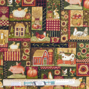 Quilting Patchwork Sewing Fabric Farm 50x55cm FQ Material