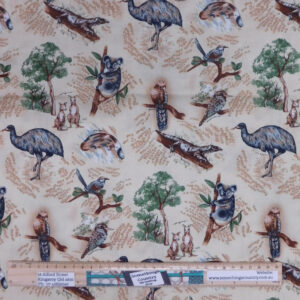 Quilting Patchwork Sewing Fabric Aussie Natives 50x55cm FQ Material