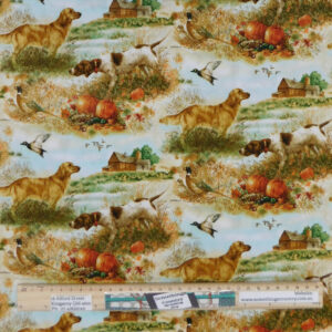 Quilting Patchwork Sewing Fabric Bird Dogs 50x55cm FQ Material