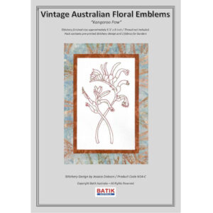 Sewing Embroidery Crafting Stitchery Kit Kangaroo Paw Inc Batik Fabric
