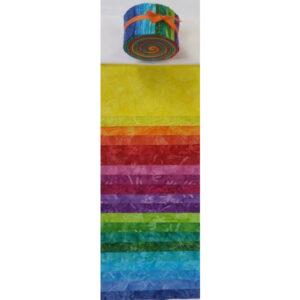 Batik Australia Quilting Jelly Roll Rainbow 2.5 Inch Sewing Fabrics
