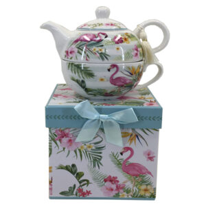 French Country Lovely Kitchen Tea For One FLAMINGO China Teapot