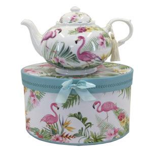 French Country Lovely Kitchen Tea Pot FLAMINGO China Teapot