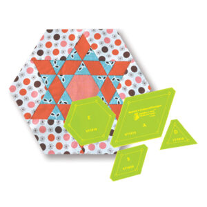 Quilting Patchwork Sewing Template Diamond Hexagon 8'' Block