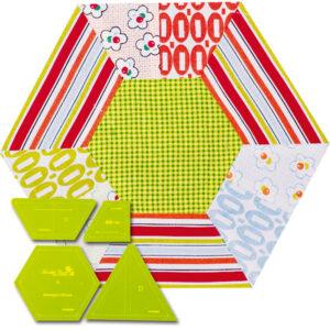Quilting Patchwork Sewing Template Hexagon Slice 8'' Matildas Own