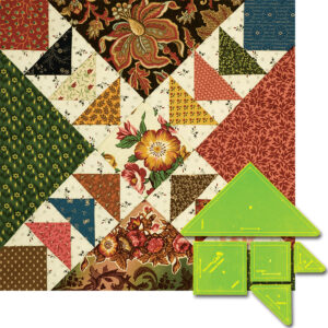 Quilting Patchwork Sewing Template Parsons Geese 13'' Matildas Own