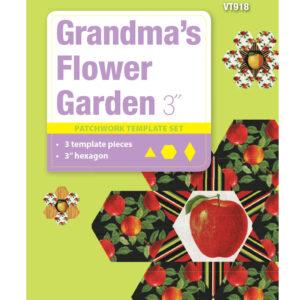 Quilting Patchwork Sewing Template 3'' Grandma's Flower Garden Hexagon