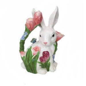 Collectable Kitchen Teapot Tulip Bunny Blue Sky China Tea Pot