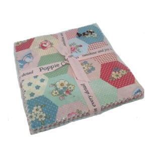 Poppie Cotton Quilting Layer Cake Dots and Posies 10 Inch Fabrics
