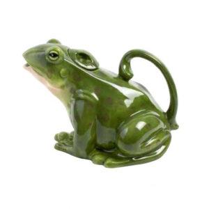 Collectable Kitchen Teapot Green Frog Blue Sky China Tea Pot