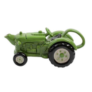 Collectable Kitchen Teapot Green Tractor Blue Sky China Tea Pot