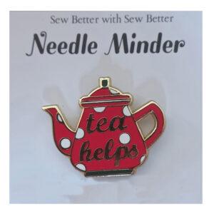 Sew Better Cross Stitch Sewing Needle Minder Keeper Tea Lover Teapot