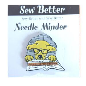 Sew Better Cross Stitch Sewing Needle Minder Keeper Reading Dog