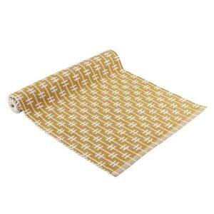 French Country Eco Eden Ribbed Table Runner Zest 33x150cm