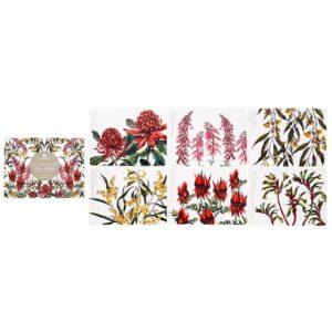 Ashdene Dining Kitchen Floral Emblems Cork Back Placemats Set 6