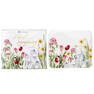 Ashdene Dining Kitchen Floral Symphony Cork Back Coasters Set 4