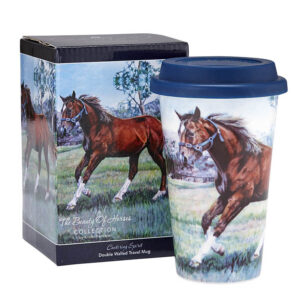 Ashdene Travel Tea Coffee Mug Cup Beauty of Horses Cantering Spirit