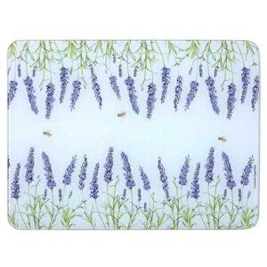 Ashdene Kitchen GLASS Lavender Fields Surface Saver Protector Board