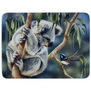 Ashdene Kitchen GLASS Koala and Wren Surface Saver Protector Board