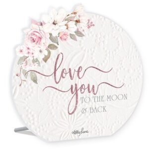 French Country Wooden Sign Mothers Day Love You To Moon Plaque