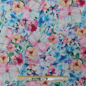 Quilting Patchwork Sewing Fabric Floral Arabesque Pink 50x55cm FQ