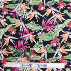 Quilting Patchwork Sewing Fabric Bird of Paradise Flowers 50x55cm FQ