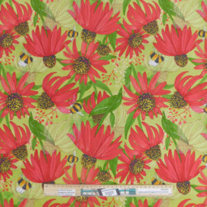 Quilting Patchwork Sewing Fabric Moda Painted Meadow Red Flowers 50x55cm FQ