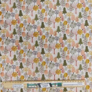 Quilting Patchwork Sewing Fabric Pink Winter Trees 50x55cm FQ