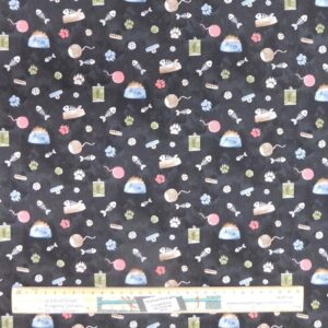 Quilting Patchwork Sewing Fabric Kitty Playtime 50x55cm FQ