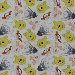 Quilting Patchwork Sewing Fabric Winnie the Pooh 50x55cm FQ