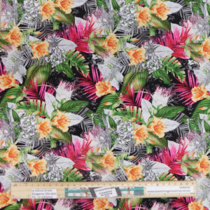 Quilting Patchwork Sewing Fabric Floral Jungle 50x55cm FQ