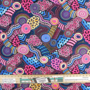 Quilting Patchwork Sewing Fabric Gondwana Pink 50x55cm FQ