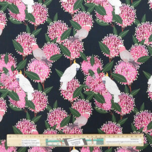 Quilting Patchwork Sewing Fabric Australian Galahs 50x55cm FQ