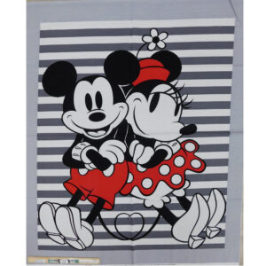 Patchwork Quilting Disney Mickey Minnie Panel 92x110cm Fabric