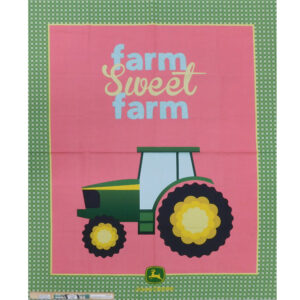 Patchwork Quilting John Deere Tractor Panel 95x110cm Fabric
