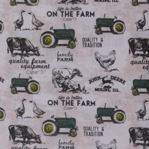 Quilting Patchwork Sewing Fabric John Deere Farm Tractors 50x55cm FQ
