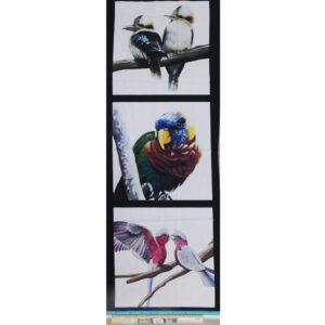 Patchwork Quilting Australian Birds E Panel 40x110cm Fabric