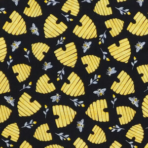 Quilting Patchwork Sewing Fabric Save the Bee Hives 50x55cm FQ