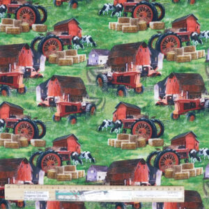 Quilting Patchwork Sewing Fabric Country Home Tractor 50x55cm FQ