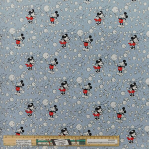 Quilting Patchwork Sewing Fabric Mickey Minnie Bubbles 50x55cm FQ