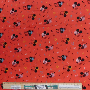 Quilting Patchwork Sewing Fabric Mickey Mouse Music 50x55cm FQ