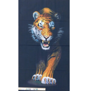 Patchwork Quilting Animal Kingdom Tiger Panel 60x110cm Fabric