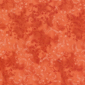 Quilting Patchwork Sewing Fabric Mystic Vine Tangerine 50x55cm FQ