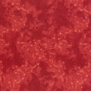 Quilting Patchwork Sewing Fabric Mystic Vine Crimson 50x55cm FQ