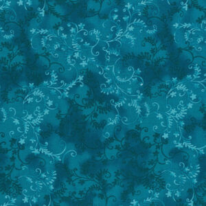 Quilting Patchwork Sewing Fabric Mystic Vine Peacock 50x55cm FQ