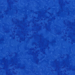 Quilting Patchwork Sewing Fabric Mystic Vine Royal Blue 50x55cm FQ