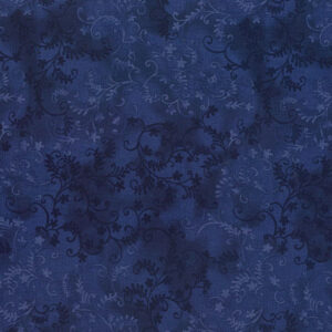 Quilting Patchwork Sewing Fabric Mystic Vine Indigo 50x55cm FQ